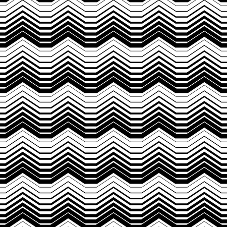 Illustration for Abstract Monochrome Seamless Pattern. Vector endless texture. - Royalty Free Image