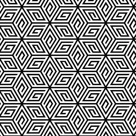 Illustration for Abstract Geometric Seamless Pattern. Vector endless texture. - Royalty Free Image