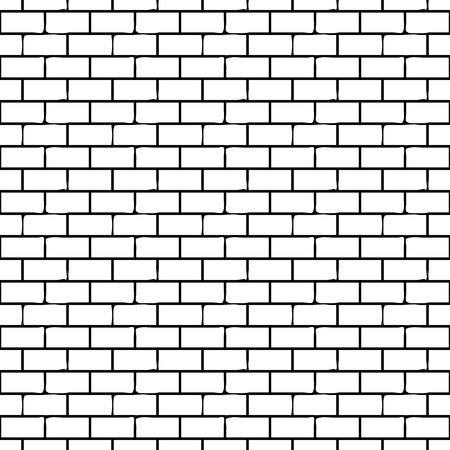 Illustration for Seamless Monochrome Pattern with Bricks. Vector endless texture. - Royalty Free Image