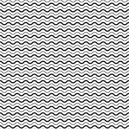 Illustration for Seamless Pattern with Smooth Wave Lines. Vector endless texture. - Royalty Free Image
