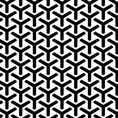 Illustration pour Geometric Grid Seamless Pattern. Vector endless texture. - image libre de droit