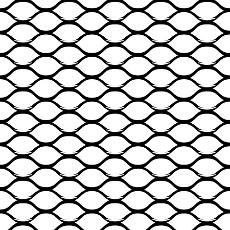 Illustration for Steel Grid Monochrome Seamless Pattern. Vector endless texture. - Royalty Free Image