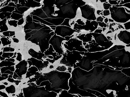 Photo for Black Marble Texture Horizontal Vector Background. - Royalty Free Image