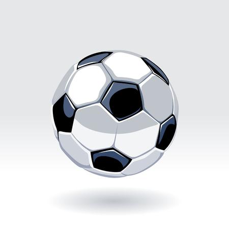 Ilustración de European football classic ball. Soccer ball vector art. - Imagen libre de derechos