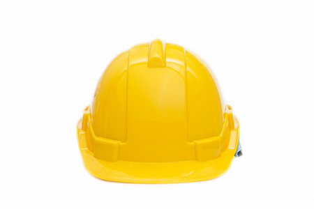Foto de yellow halmet safety for head, hard hat - Imagen libre de derechos