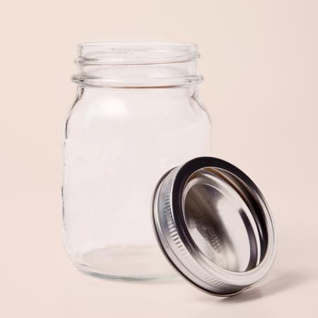 A single glass jar with lid