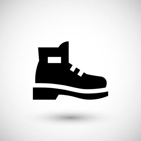 Ilustración de Industrial boot icon isolated on grey. Vector illustration - Imagen libre de derechos
