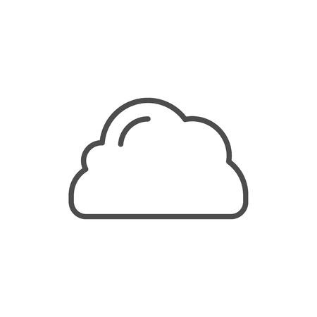 Illustration pour Cloud line icon isolated on white. Vector illustration - image libre de droit