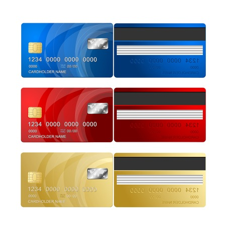 Illustration pour Vector Credit Card two sides - image libre de droit