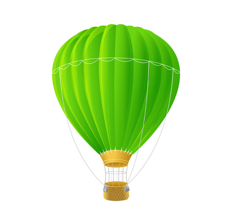 Illustration pour Vector green air ballon isolated on white - image libre de droit