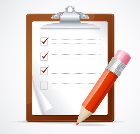Illustration pour Vector illustration of check list - image libre de droit