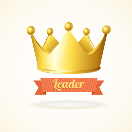 Illustration for Gold king crown isolated on a white background - Royalty Free Image