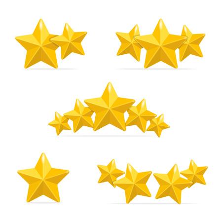 Illustration pour Vector rating hotels stars concept on black background - image libre de droit