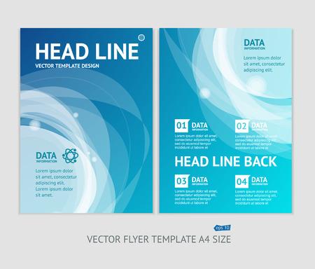 Illustration pour Vector illustration abstract geometric brochure flyer design templates in A4 size - image libre de droit
