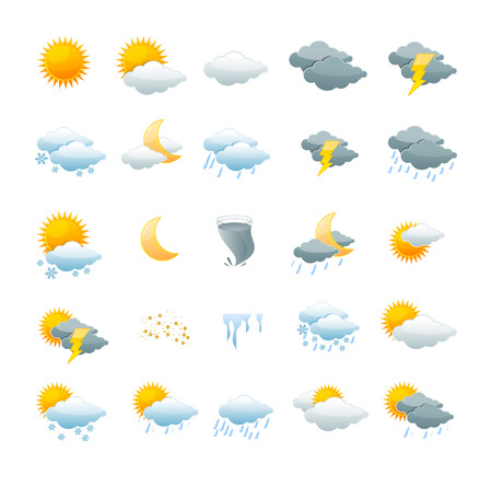 Illustration pour Vector illustration weather icon set isolated on a white background. the concept of weather change - image libre de droit
