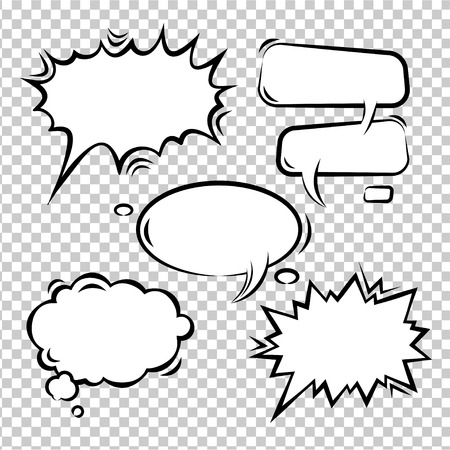 Illustration pour Vector Illustration set of comic bubbles empty - image libre de droit