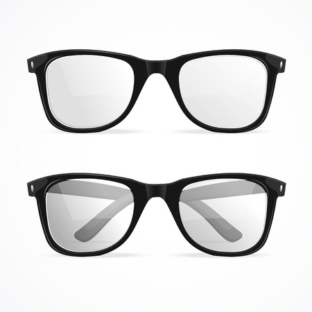 Illustration for Vector Illustration metal framed geek glasses isolated on a white background. - Royalty Free Image
