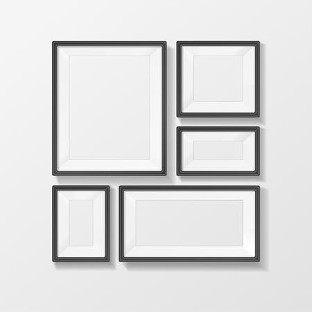 Illustration pour Vector illustration picture frame vector set, with space for text or ad. - image libre de droit