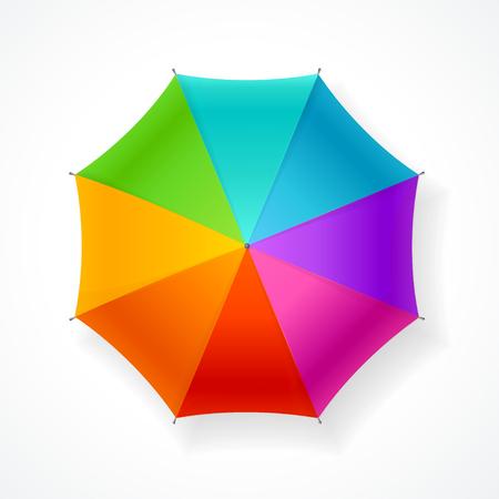 Umbrella Rainbow Isolated on White Background. Cheerful Mood.  Vector illustration