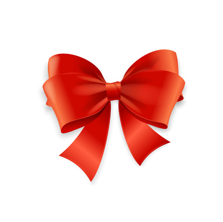 Illustration pour Red Bow Isolated on White Background. Vector illustration - image libre de droit