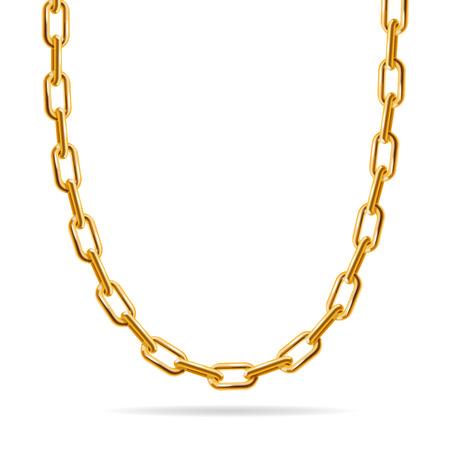 Illustration pour Gold Chain. Fashion Design for Jewelry. Vector illustration - image libre de droit