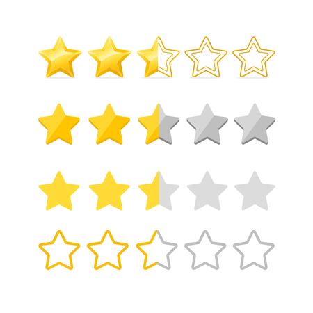 Illustration for Rating Stars Set. Vector - Royalty Free Image