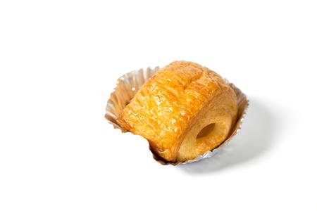 Foto de close up of Croissant cup isolated on white background - Imagen libre de derechos