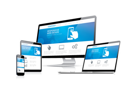 Illustration pour Website coding development with responsive web design concept - image libre de droit