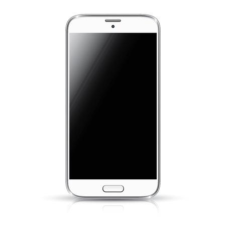 Illustration pour White smartphone realistic vector illustration isolation  Modern style mobile phone  - image libre de droit