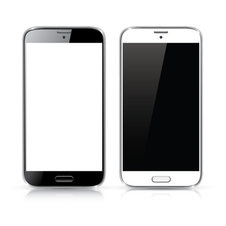 Illustration for Perfectly detailed vector of modern new smartphone isolated on white - Royalty Free Image