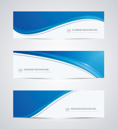 Ilustración de Abstract business background banner beautiful blue wave - Imagen libre de derechos