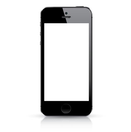 Illustration pour Modern black smart phone isolated  Vector illustration  - image libre de droit