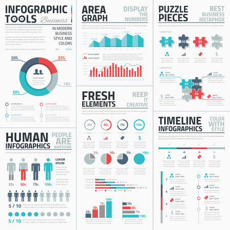 Ilustración de Business infographic elements illustration - Imagen libre de derechos