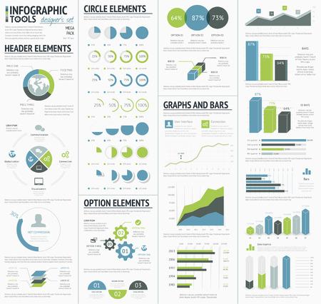 Illustration pour Information graphics to visualize corporate data infographics - image libre de droit