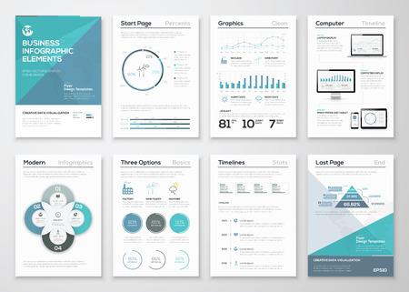 Ilustración de Infographic elements for business brochures and presentations - Imagen libre de derechos