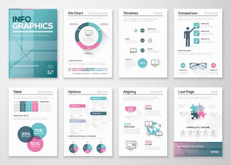 Illustration pour Modern infographic vector concept. Business graphics brochures. - image libre de droit