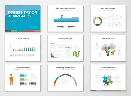 Illustration pour Presentation slide templates and business vector brochures - image libre de droit