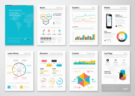 Foto de Modern infographic vector elements for business brochures - Imagen libre de derechos