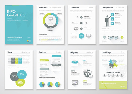 Illustration pour Fresh infographics vector concept. Business graphics brochures. - image libre de droit