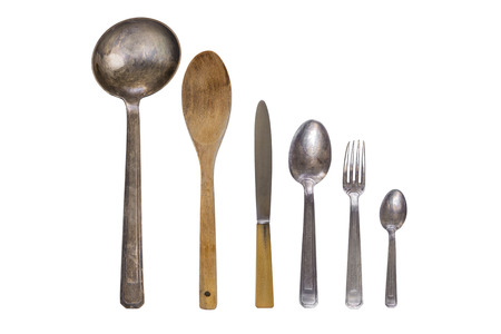 Photo for Vintage silver cutlery - Royalty Free Image