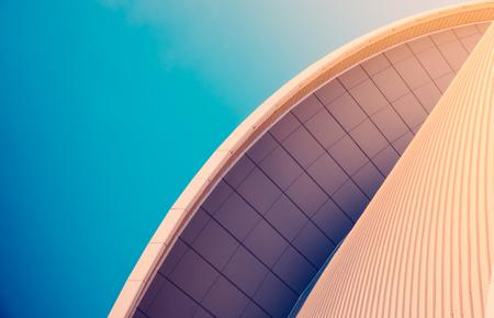 Foto de Abstract Detail Of Sleek Modern Contemporary Architecture With Copy Space - Imagen libre de derechos