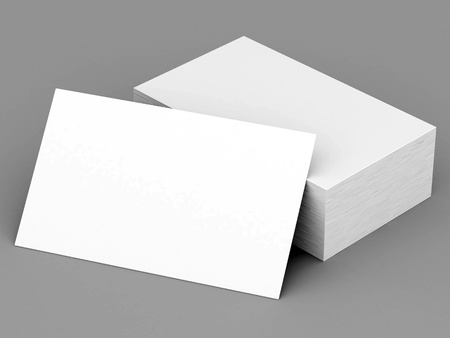 Photo pour Business cards blank mockup - template - gray background - image libre de droit