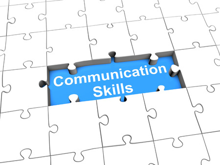 Foto de Communication skills puzzle - Imagen libre de derechos