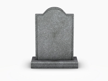 Foto de gravestone on white background - Imagen libre de derechos