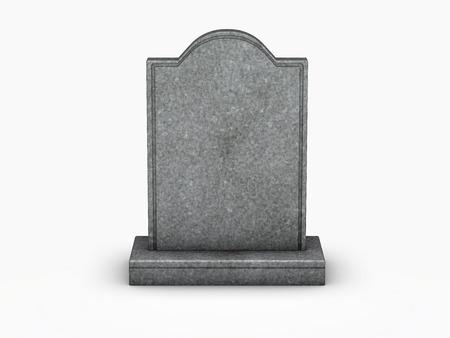 Photo pour gravestone on white background - image libre de droit