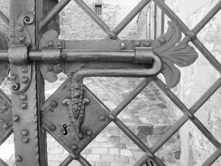 Photo pour Aristocratic coat of arms is an antique door - image libre de droit