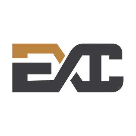 HE, EH, Abstract initial monogram letter alphabet logo design
