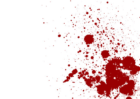 Foto de dark red splash on white background. Vector illustration. Grunge background - Imagen libre de derechos