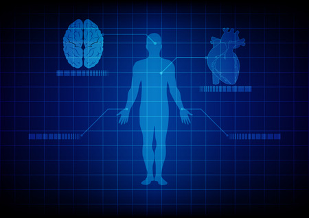 Ilustración de abstract medical body technology. illustration design. - Imagen libre de derechos