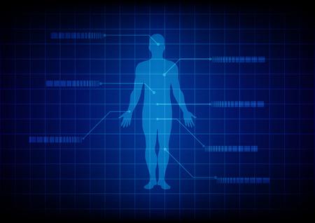 Illustrazione per Abstract Medical body background. illustration design. - Immagini Royalty Free